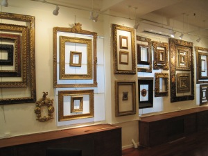 I would love to own a Goya and put it in one of these gorgeous Spanish frames (photo credit: Nicholas Merkelson)