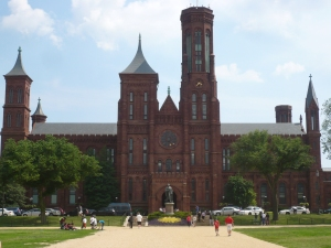 "Smithsonian Castle, where the recent exhibit ""Souvenir Nation"" highlights ongoing issues of money and relevance facing museums (Photo credit: Nicholas Merkelson)"